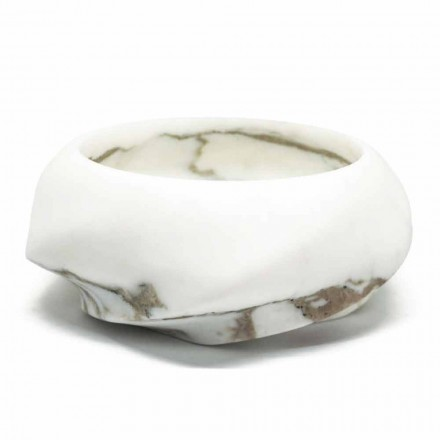 Round Design Tray in Arabescato Marble Made in Italy - Casimir