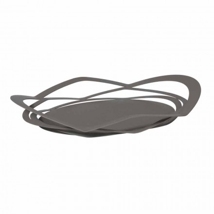 Modern Design Tray in Handmade Iron, Made in Italy - Futti