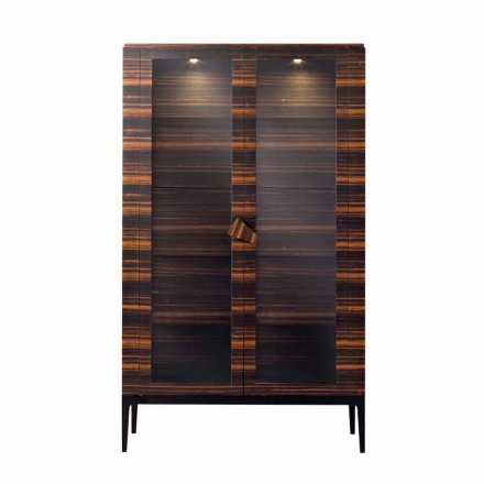 Grilli Zarafa design solid wood cabinet with 2 doors made in Italy