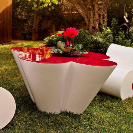 Vondom Agatha outdoor coffee table in polyethylene, modern design