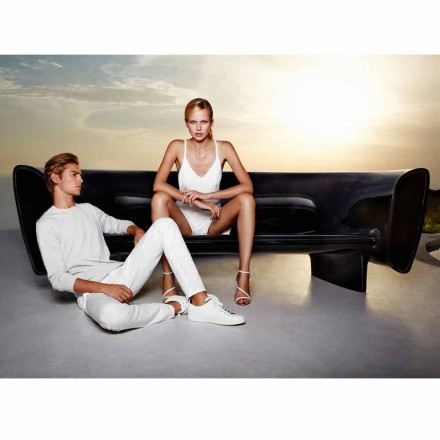 Vondom Bum Bum black lacquered outdoor sofa, modern design