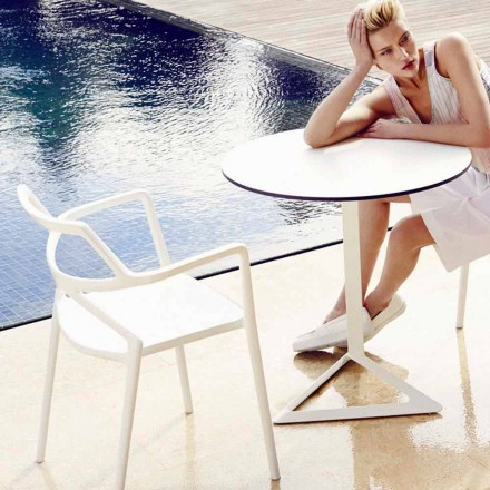 Vondom Delta outdoor chair in polypropylene, modern design