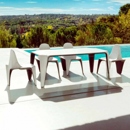 Vondom F3 outdoor table in polyethylene 190x90 cm, contemporary design