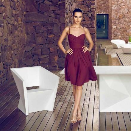 Vondom Faz white lacquered outdoor armchair, modern design