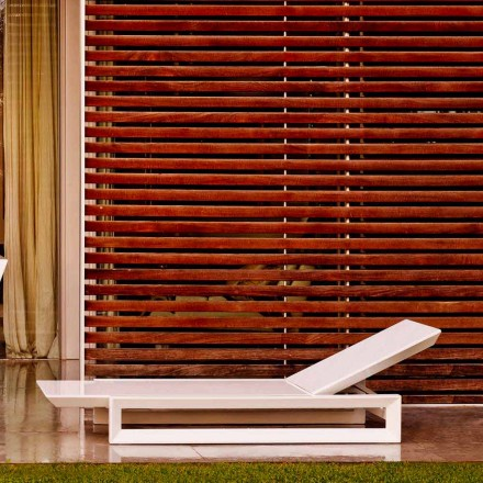 Vondom Frame sun lounger in white polyethylene, contemporary design