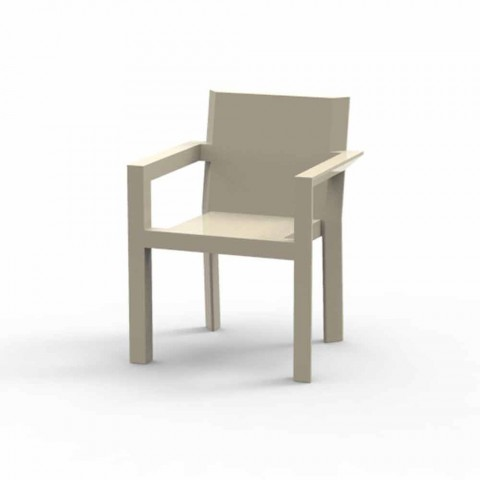 Vondom Frame outdoor chair with armrests of modern design