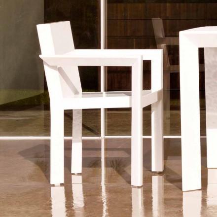 Vondom Frame garden chair with armrests in polyethylene, modern design