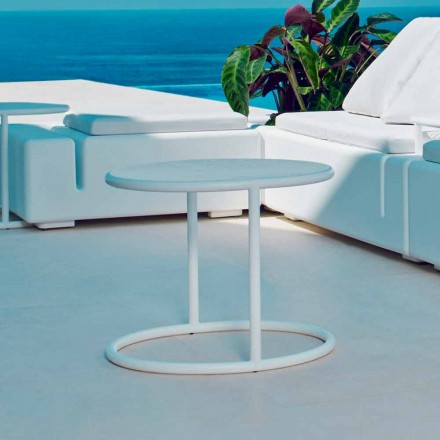 Vondom Kes outdoor round coffee table, made of steel, modern design