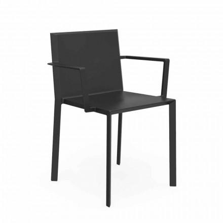 Vondom Quartz outdoor chair with armrests, modern design, 52x57xH79 cm