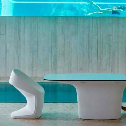 Vondom Ufo white outdoor chair, modern design 56x62x83 cm