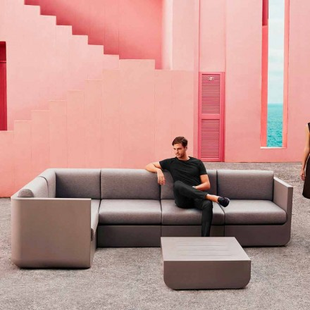 Vondom Ulm taupe outdoor living room set, modern design
