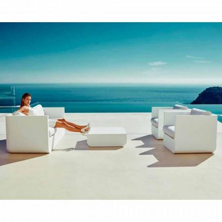 Vondom Ulm white outdoor living room set, modern design