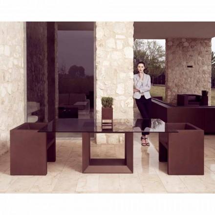 Vondom Vela modern outdoor armchair, bronze finish