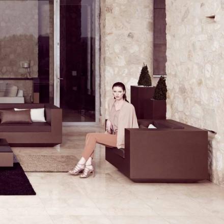 Vondom Vela modern outdoor armchair, bronze lacquered polyethylene