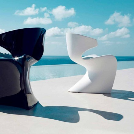 Vondom Wing modern outdoor armchair made of polyethylene, 50x56xH74 cm