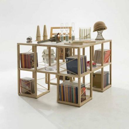 Modular designer bookcase Zia Babele I Castelli 7