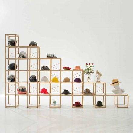 Modular designer bookcase Zia Babele I Castelli 8