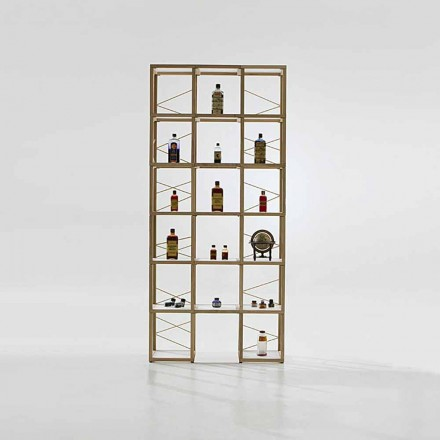 Modular designer bookcase Zia Babele I Castelli 9