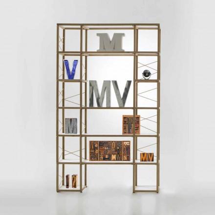 Modular designer bookcase Zia Babele I Castelli 10