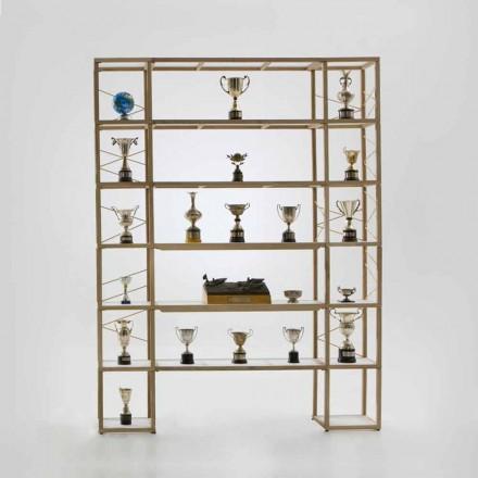 Modular designer bookcase Zia Babele I Castelli 11