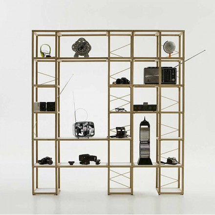 Modular designer bookcase Zia Babele I Castelli 12