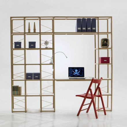 Modular designer bookcase Zia Babele I Castelli 13