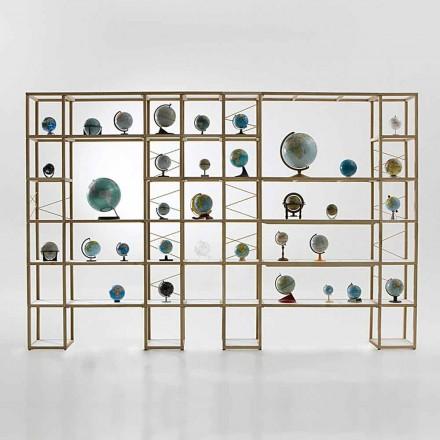 Modular designer bookcase Zia Babele I Castelli 14