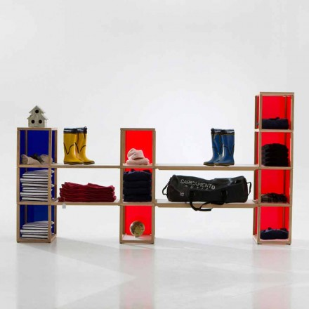 Modular designer bookcase Zia Babele I Castelli 2