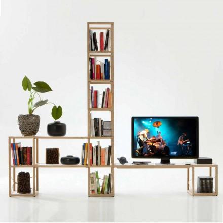 Modular designer bookcase Zia Babele I Castelli 3