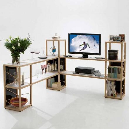 Modular designer bookcase Zia Babele I Castelli 4