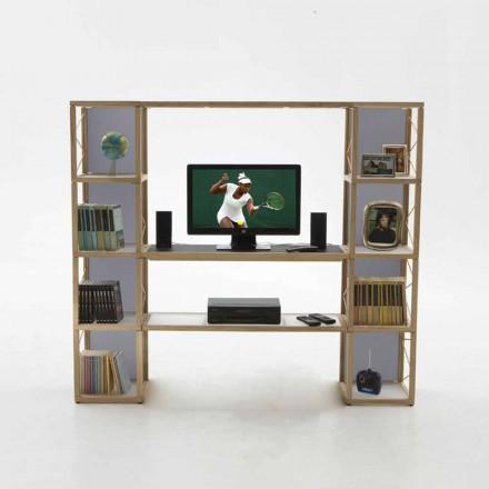 Modular designer bookcase Zia Babele I Castelli 5