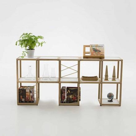 Modular designer bookcase Zia Babele I Castelli 1