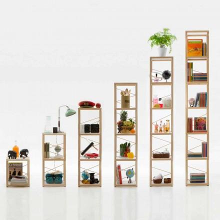 Modular design bookcase Zia Babele Le Torri