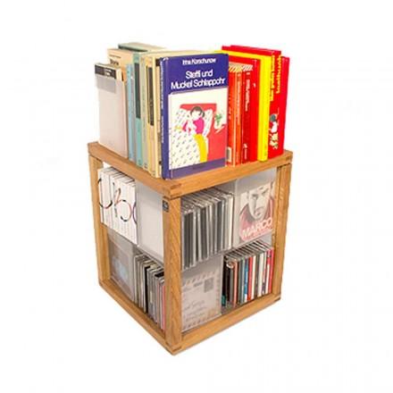 Modular modern bookcase Zia Babele Le Trottole PortaCD