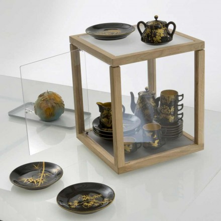 Modular design bookcase Zia Babele Trottola Portaoggetti